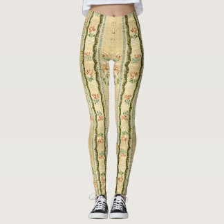Vintage Embroidered Floral All Over Print Leggings