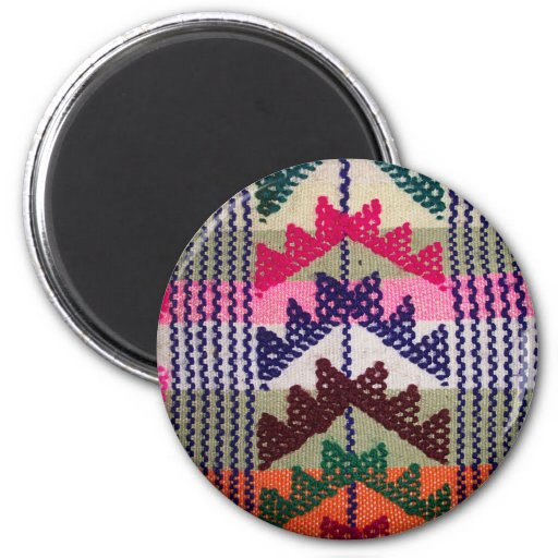 Vintage Embroidered Pattern Refrigerator Magnet
