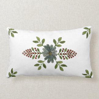 Vintage Embroidery Design Lumbar Cushion