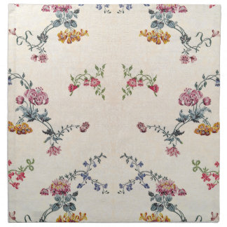Vintage Embroidery Flowers Floral Cloth Napkins