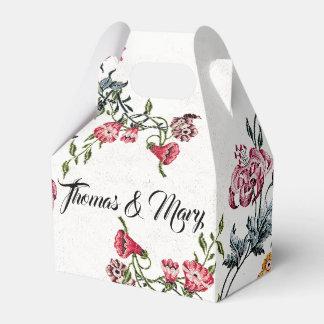 Vintage Embroidery Flowers Floral Favor Box