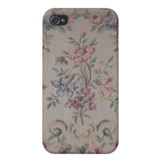 Vintage Embroidery Needlepoint Rose Fabric iPhone 4/4S Covers