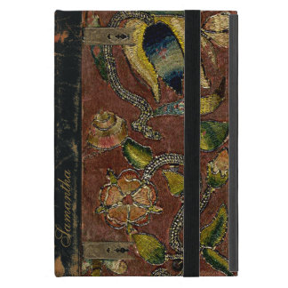 Vintage Embroidery On Velvet Cover For iPad Mini
