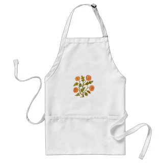 Vintage Embroidery Style Flowers Standard Apron