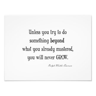 Vintage Emerson Inspirational Growth Mastery Quote Photo