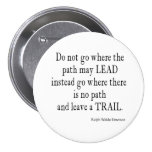 Vintage Emerson Inspirational Leadership Quote 7.5 Cm Round Badge