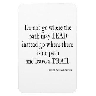 Vintage Emerson Inspirational Leadership Quote Rectangular Photo Magnet