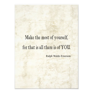 Vintage Emerson Inspirational Quote Art Photo