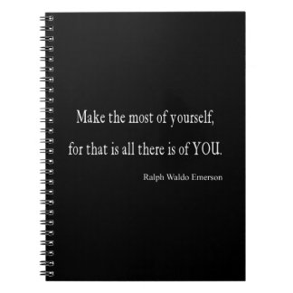 Vintage Emerson Inspirational Quote - Customisable Notebooks