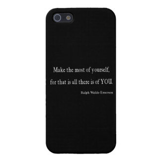Vintage Emerson Inspirational Quote - Customizable iPhone 5 Case