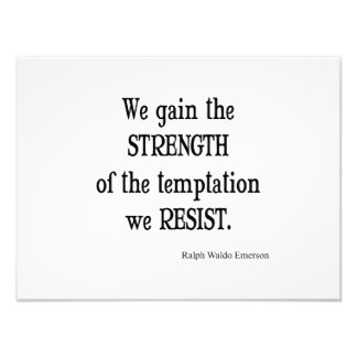 Vintage Emerson Inspirational Strength Quote Photo Art