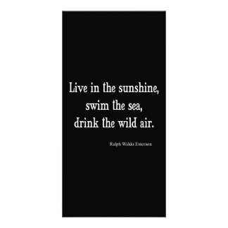 Vintage Emerson Live in Sunshine Quote Card