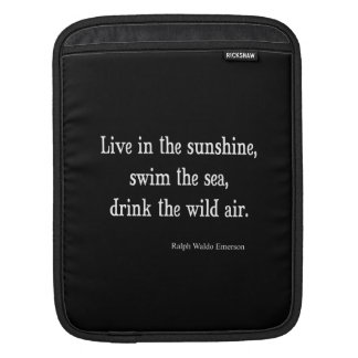 Vintage Emerson Live in Sunshine Quote iPad Sleeve