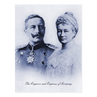 Vintage Emperor and Empress of Germany Postcard