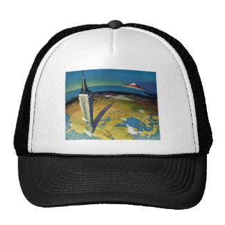 Vintage Empire State Building New York City Mesh Hats