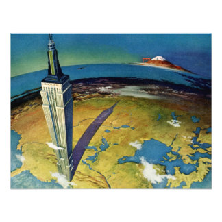 Vintage Empire State Building New York City Personalized Invitations