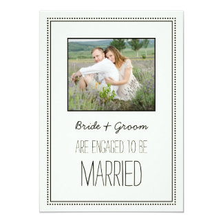 Vintage Engagement Party Photo Invitations