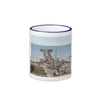 Vintage England  Blackpool 1890's Coffee Mugs