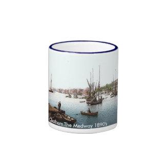 Vintage England Chatham 1890's Coffee Mugs