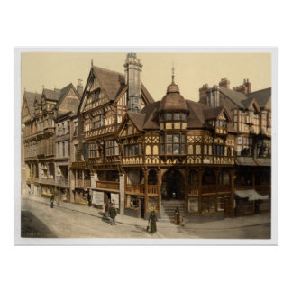 Vintage England, Chester, 19th century Cheshire Posters
