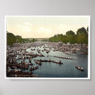 Vintage England  Henley On Thames Regatta 1890's Poster