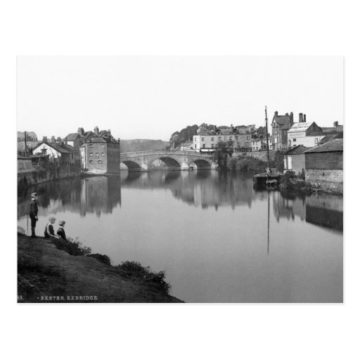 Vintage England, River Exe, Exbridge, Exeter 1904 Post Cards