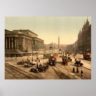 Vintage England, Saint Georges Hall, Liverpool Poster