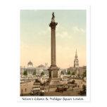 Vintage England, Trafalgar Square London Post Card