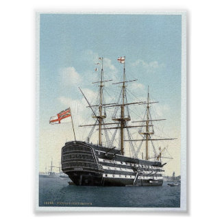 "Vintage England  "" Victory ""  Portsmouth 1890's Poster"