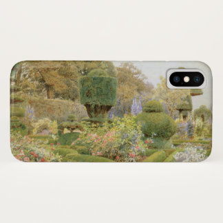 Vintage English Garden, Roses and Pinks by Elgood iPhone X Case