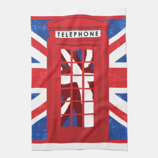 Vintage English Phone Booth Hand Towels