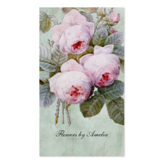 Vintage English Rose Garden Botanical Pack Of Standard Business Cards
