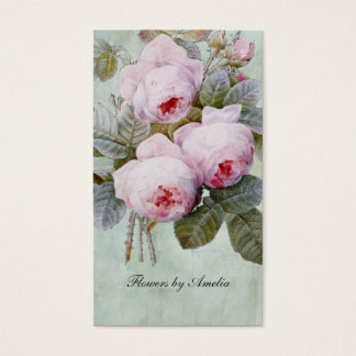 Vintage English Rose Garden Botanical Custom Business Card
