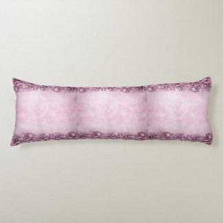 Vintage English Roses Lavender Violet Pink Floral Body Cushion