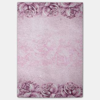 Vintage English Roses Lavender Violet Pink Floral Post-it Notes