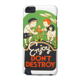 Vintage Enjoy Don't Destroy WPA Poster iPod Touch (5th Generation) Case