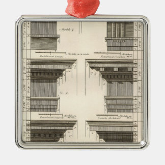 Vintage Entablatures, Orders of Architecture Christmas Ornament