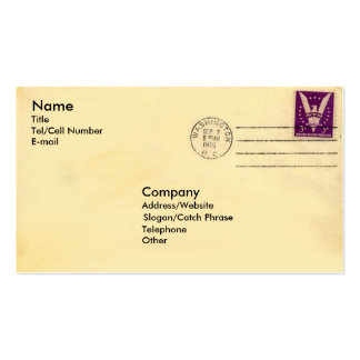 Vintage Envelope Double-Sided Standard Business Cards (Pack Of 100)