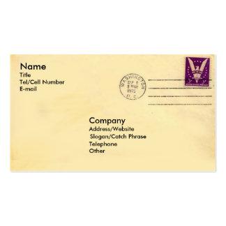 Vintage Envelope Pack Of Standard Business Cards