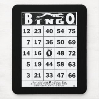Vintage Ephemera | Vintage Bingo Card Mouse Pad