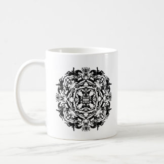 Vintage Equestrian Kaleidoscope Bookplate Coffee Mug