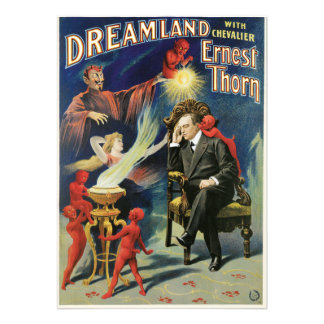 Vintage Ernest Thorn Magician Poster Personalized Announcements