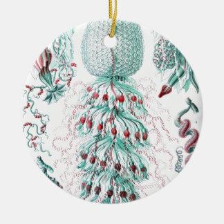 Vintage-Ernst-Haeckels-Kunstformen-Blue Jelly Christmas Ornament