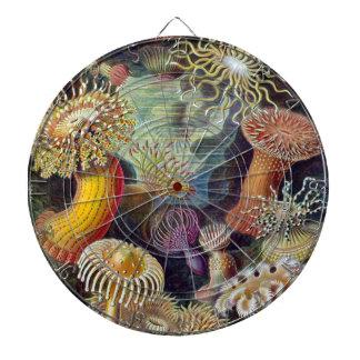 vintage-Ernst-Haeckels-Kunstformen-Mulit Dark Dart Board