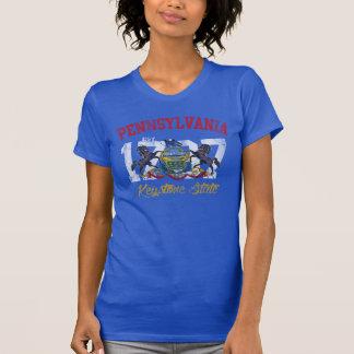 Vintage Est 1787 Pennsylvania Keystone State Flag T Shirt