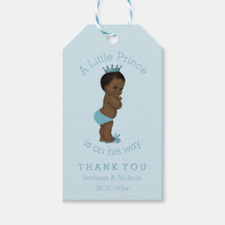Vintage Ethnic Prince Baby Shower Personalized Pack Of Gift Tags