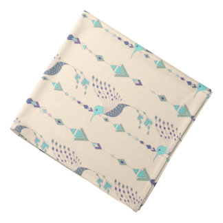 Vintage ethnic tribal aztec bird bandana