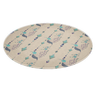Vintage ethnic tribal aztec bird cutting board