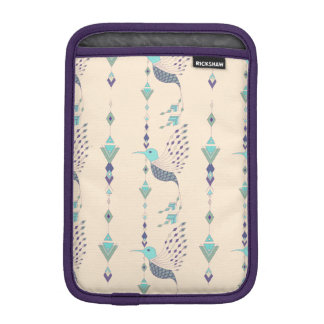 Vintage ethnic tribal aztec bird iPad mini sleeve