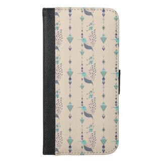 Vintage ethnic tribal aztec bird iPhone 6/6s plus wallet case